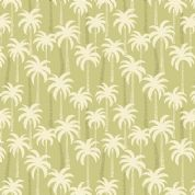 Lewis & Irene Tropicana - 4645 - Palm Trees on Olive Green - A132.2 - Cotton Fabric
